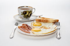 Classic Breakfast. Isolated on white background Stock Images