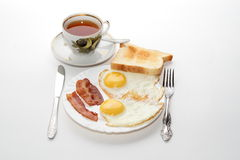 Classic breakfast. Isolated on white background Stock Image