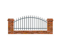 Classic Brick Fence Stock Photos