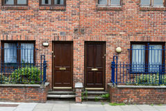 Classic brick walls with doors Royalty Free Stock Photos