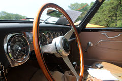 Classic brit car cabin Royalty Free Stock Image