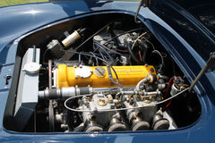 Classic brit car engine Royalty Free Stock Photos