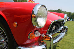 Classic Brit car front detail Royalty Free Stock Images
