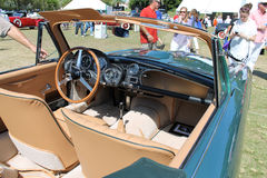 Classic Brit sports car interior Royalty Free Stock Photography