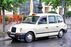 Classic British cab Royalty Free Stock Images