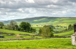 Classic british landscape at the Peak district near Manchester.  Royalty Free Stock Photo