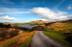 classic british countryside landscape sky lake and Royalty Free Stock Photography