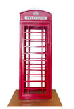 Classic British red phone booth Stock Photography