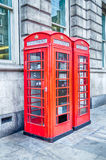 Classic British red phone booth in London Royalty Free Stock Photography