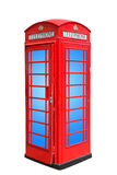 Classic British red phone booth in London UK, isolated on white Royalty Free Stock Photography