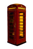 Classic British red phone booth in London UK Stock Image