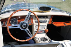Classic british roadster interior Stock Photography