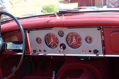 Classic British sports car cabin Stock Photos