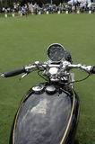 Classic british vincent motorcycle dial handlebars Stock Photography