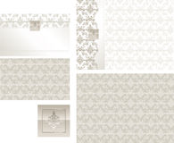 Classic Brocade response and place card illustration Stock Photos