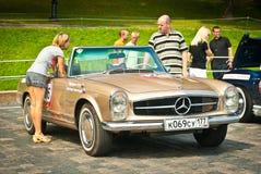 Classic bronze SL Mercedes Stock Photography