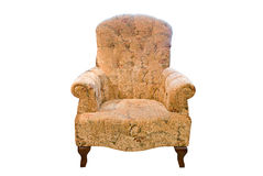 Classic brown armchair. Over white background Royalty Free Stock Photos