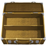 Classic brown empty suitcase for travel. Vector Royalty Free Stock Image