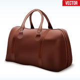 Classic Brown Leather Bag Royalty Free Stock Photo