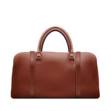 Classic Brown Leather Bag Stock Photography