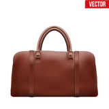 Classic Brown Leather Bag Royalty Free Stock Photos