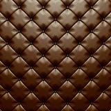 Classic brown leather button upholstery background. 3d render illustration Stock Photo