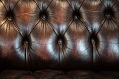 Classic brown leather texture Stock Image