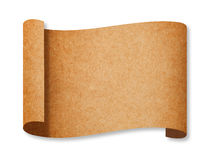 Classic Brown Recycle Paper Curl Stock Photo
