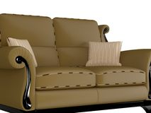 Classic brown sofa Royalty Free Stock Photography