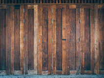 A classic brown wooden doors Stock Image