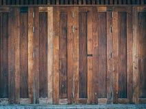 A classic brown wooden doors Stock Image