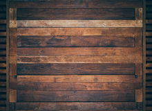 A classic brown wooden doors Royalty Free Stock Photo