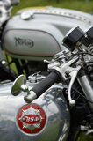 Classic BSA and Norton motorcycles. Royalty Free Stock Photo