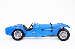 Classic Bugatti sports car. Picture of an old Classic Bugatti sports car isolated with a white background Stock Photos
