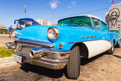 Classic Buick in the Revolution Square in Havana Stock Image