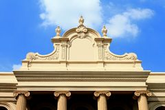 Classic building and blue sky Royalty Free Stock Image