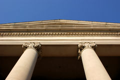 Classic building columns royalty free stock photography