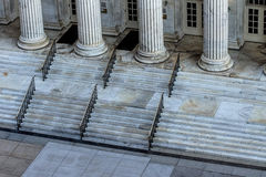 Classic building with marble pillars Royalty Free Stock Photo