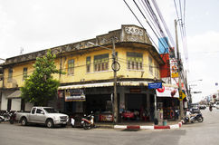 Classic Building old town is a very famous tourist destination o. F Yala city on July 13, 2016 in Yala province of southern Thailand royalty free stock photos