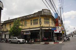 Classic Building old town is a very famous tourist destination o. F Yala city on July 13, 2016 in Yala province of southern Thailand royalty free stock photo