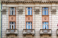 Classic building. Classic style building exterior with columns Stock Photos