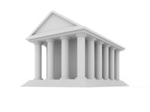 Classic building vector Royalty Free Stock Photography