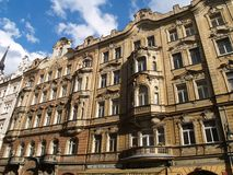 Classic buildings. Prague architecture Royalty Free Stock Images