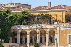 Classic buildings in downtown Alghero, Italy Stock Photography