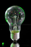 Classic bulb. Classic electric bulb on black background. Old lightbulb Stock Image