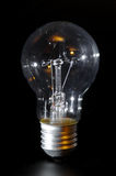 Classic bulb. Classic electric bulb on black background. Old lightbulb Stock Photography