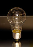 Classic bulb. Classic electric bulb on black background. Old lightbulb Royalty Free Stock Photo