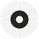 Classic bullseye target. Isolated classic black and white bullseye target with numbers stock illustration