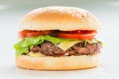 Classic burger, cheeseburger stock image
