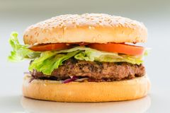 Classic burger, cheeseburger royalty free stock images